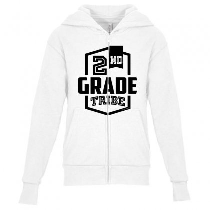 2nd Grade Tribe Youth Zipper Hoodie Designed By Ale C. Lopez