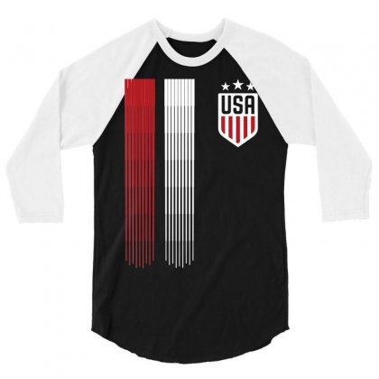 Usa T Shirt  Cool Usa Soccer T Shirt Womens Mens Kids 3/4 Sleeve Shirt Designed By Tran Ngoc