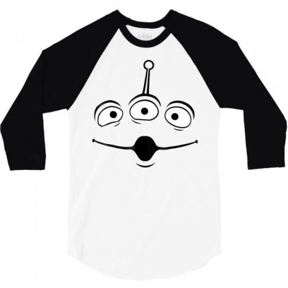 Pixar Toy Story Alien Face Halloween Graphic T Shirt 3/4 Sleeve Shirt Designed By Tran Ngoc