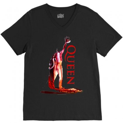 Queen Official Crowned Colour T Shirt V-neck Tee Designed By Tran Ngoc