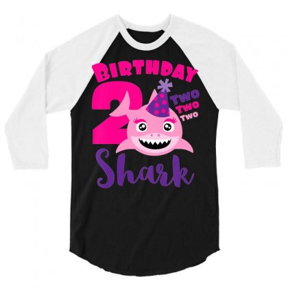 Kids Baby Shark T Shirt 2nd Birthday For Girls   Doo Doo Doo 3/4 Sleeve Shirt Designed By Tran Ngoc