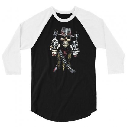 Skull 3/4 Sleeve Shirt Designed By Disgus_thing