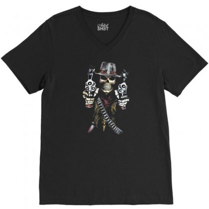 Skull V-neck Tee Designed By Disgus_thing