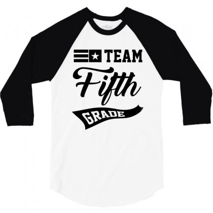Team Fifth Grade 3/4 Sleeve Shirt Designed By Ale C. Lopez