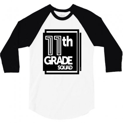 11h Grade Squad 3/4 Sleeve Shirt Designed By Ale C. Lopez