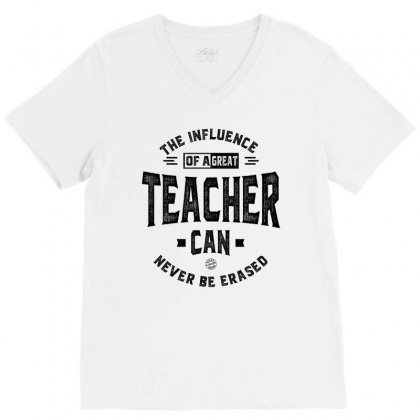 The Influence Of A Great Teacher V-neck Tee Designed By Ale C. Lopez