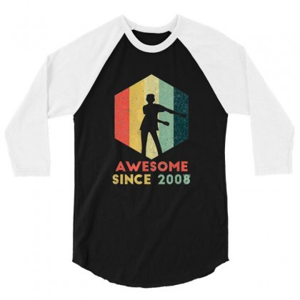 Vintage Floss Dance 11th Shirt Gift For 11 Year Old Birthday 3/4 Sleeve Shirt Designed By Tran Ngoc