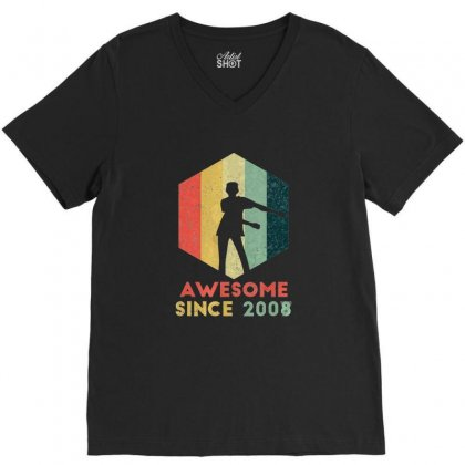Vintage Floss Dance 11th Shirt Gift For 11 Year Old Birthday V-neck Tee Designed By Tran Ngoc