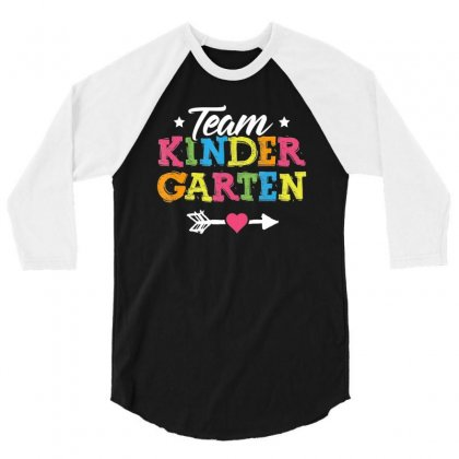 Team Kindergarten Shirt Teacher Student Kids Back To School T Shirt 3/4 Sleeve Shirt Designed By Tran Ngoc