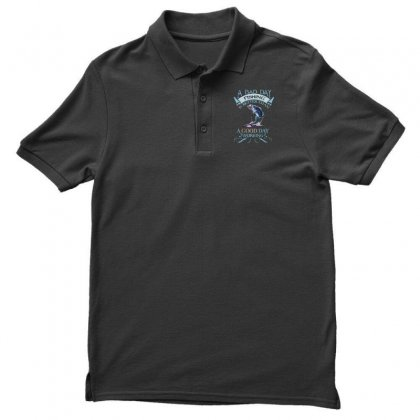 A Bad Day Fishing Is Better Than A Good Day Working Men's Polo Shirt Designed By Mirazjason