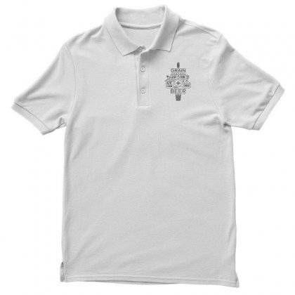 Beer Brewing Explained   Black Men's Polo Shirt Designed By Mirazjason