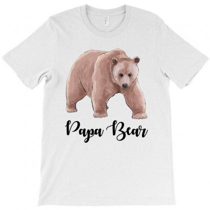 Watercolor Cute Bear Family Matching Papa Bear T-shirt Designed By Toweroflandrose