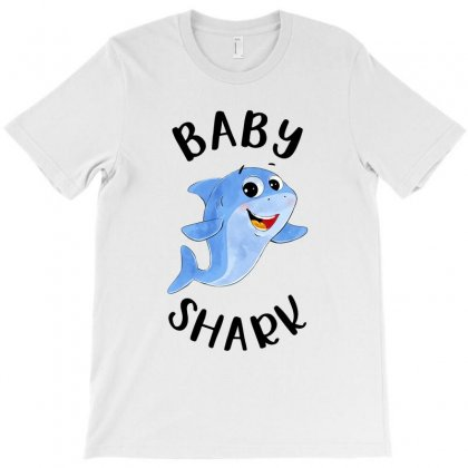 Watercolor Shark Family Matching Baby Shark T-shirt Designed By Toweroflandrose