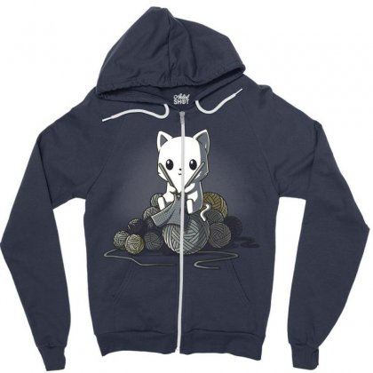Gifts For People Who Like Knitting Zipper Hoodie Designed By Anrora