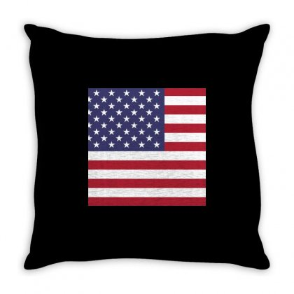 America All Over Throw Pillow Designed By Cogentprint