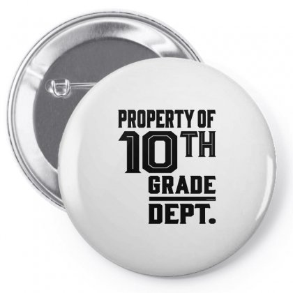 Property Of 10th Grade Dept. Pin-back Button Designed By Ale C. Lopez