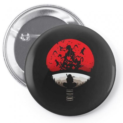 Red Moon Pin-back Button Designed By Alan