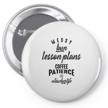 Messy Bun, Lesson Plans, Coffee Patience Pin-back Button Designed By Ale C. Lopez