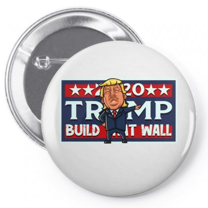 Build That Wall License Plate Pin-back Button Designed By Tiococacola
