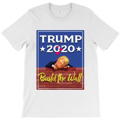 Trump Build The Wall 2020 T-shirt Designed By Tiococacola