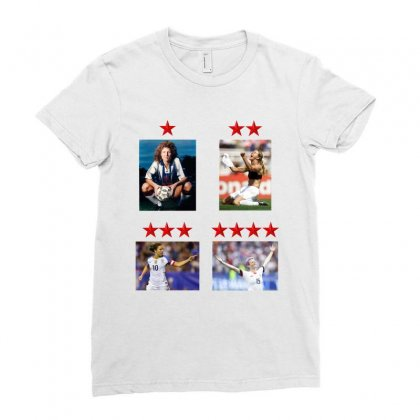 Uswnt 4 World Cup Stars Ladies Fitted T-shirt Designed By Honeysuckle