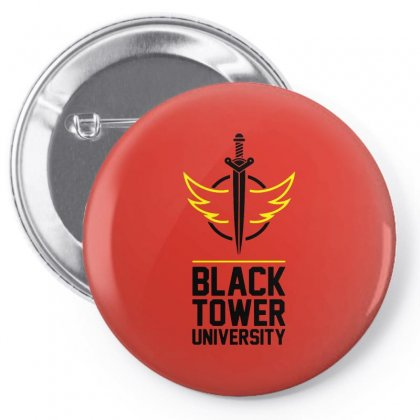 Black Tower University Pin-back Button Designed By Titis
