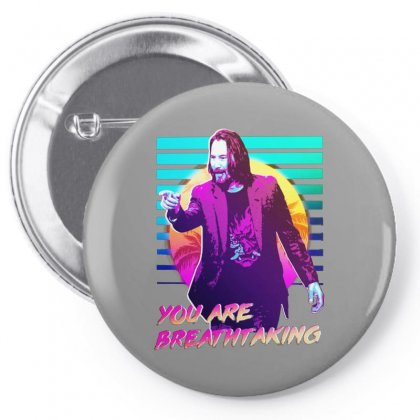 You Are Breathtaking Keanu Reeves Pin-back Button Designed By Bambangtriadmaja