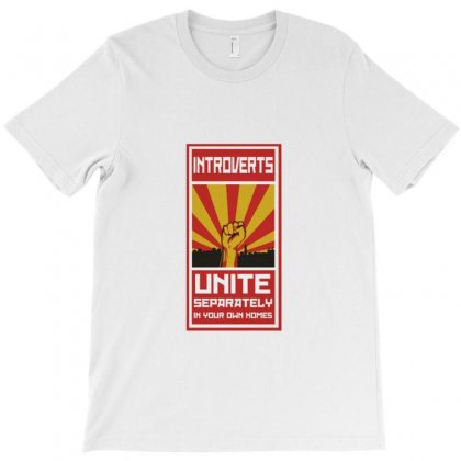 Introverts Unite T-shirt Designed By Titis