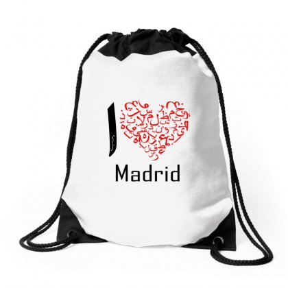 I Love Madrid 4 Drawstring Bags Designed By Nowlam