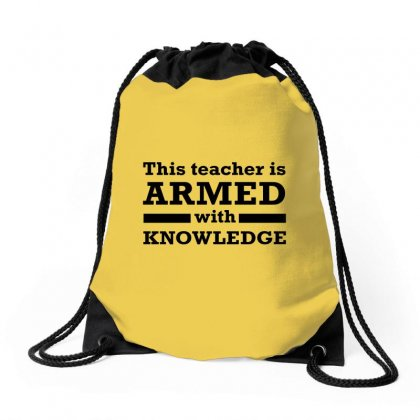 Armed With Knowledge Drawstring Bags Designed By Erickthohir