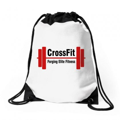Crossfit Forging Elite Fitness (black) Drawstring Bags Designed By Viral Style
