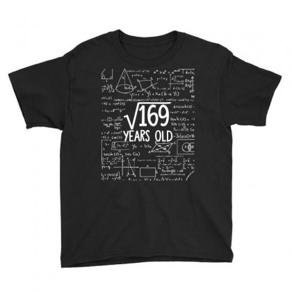 Square Root Of 169 13th Birthday 13 Years Old T Shirt Youth Tee Designed By Mdk Art