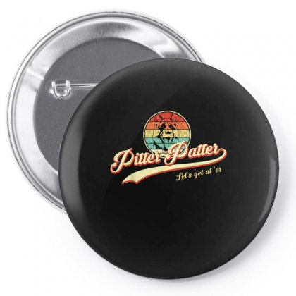 Pitter Funny Patter Let's Get At 'er Retro Pin-back Button Designed By Anrora