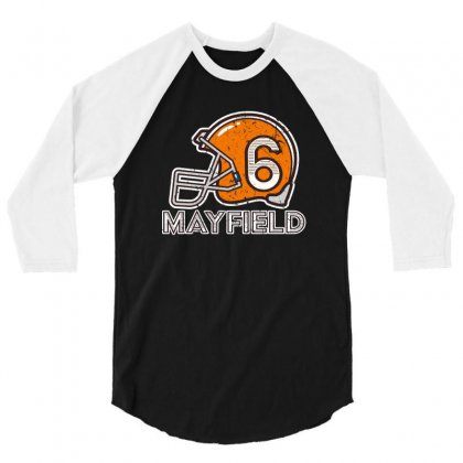 Baker Mayfield's Helmet For Dark 3/4 Sleeve Shirt Designed By Ofutlu