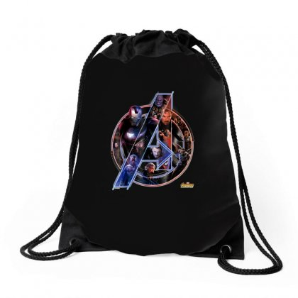 Avengers Infinity War Neon Team Graphic, End Game Drawstring Bags Designed By Tran Ngoc
