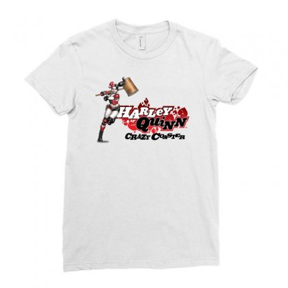 Crazy Coaster Ladies Fitted T-shirt Designed By Mirazjason