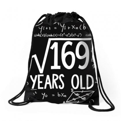 Square Root Of 169 13th Birthday 13 Years Old T Shirt Drawstring Bags Designed By Nhan