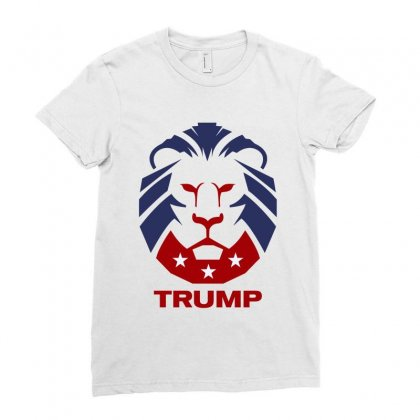Make America Great Again Republican Party Lion Guard Ladies Fitted T-shirt Designed By Tiococacola