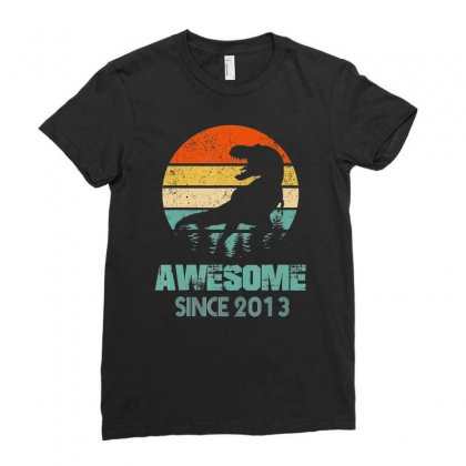 6th Birthday Gift Shirt Dinosaur 6 Year Old Tshirt For Boy Ladies Fitted T-shirt Designed By Nhan
