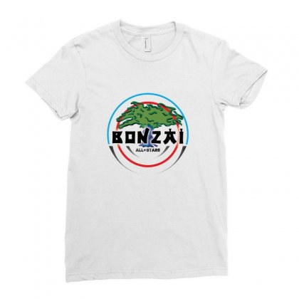 Bonzai Records Logo Ladies Fitted T-shirt Designed By Titis