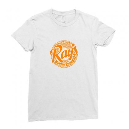 Ray's Music Exchange Ladies Fitted T-shirt Designed By Doniemichael