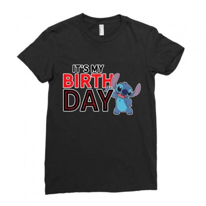 Lilo And Stitch Happy Birthday T Shirt Ladies Fitted T-shirt Designed By Nhan