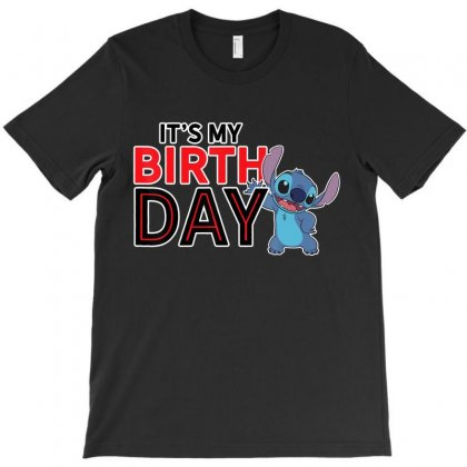 Lilo And Stitch Happy Birthday T Shirt T-shirt Designed By Nhan