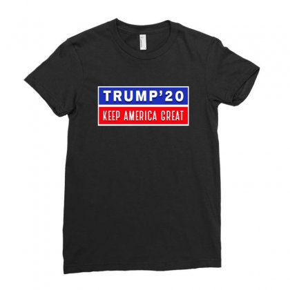 Trump 20 Kag Ladies Fitted T-shirt Designed By Tiococacola