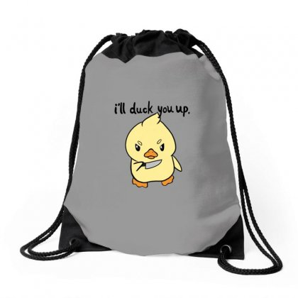 Duck You Drawstring Bags Designed By Titis