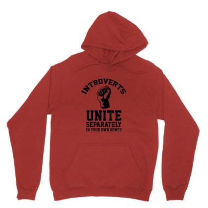 Introverts Unite Unisex Hoodie Designed By Titis