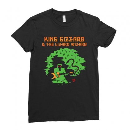 Funny Guitarist Ladies Fitted T-shirt Designed By Blqs Apparel