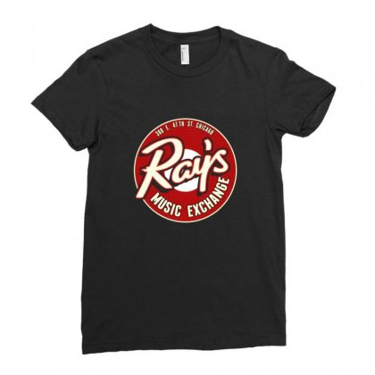 Ray's Music Exchange Ladies Fitted T-shirt Designed By Titis