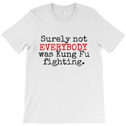 Surely Not Everybody Was Kung Fu Fighting T-shirt Designed By Blqs Apparel
