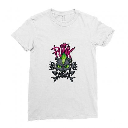 Catpunk Ladies Fitted T-shirt Designed By Ismi